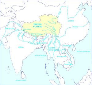 "The Tibetan plateau is Asia's ""water tower."" © Brahma Chellaney, ""Water: Asia's New Battleground"" (Washington, DC: Georgetown University Press, 2013)."