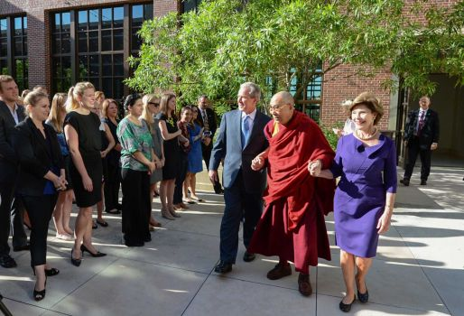 Dalai Lama at the  George W. Bush Presidential Center in Dallas on July 1, 2015
