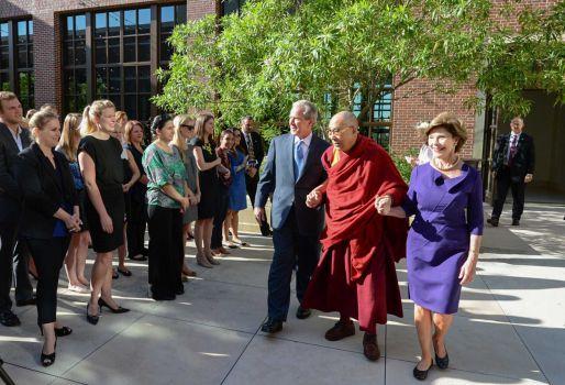 Dalai Lama at the  George W. Bush Presidential Center in Dallas on July 1, 2015