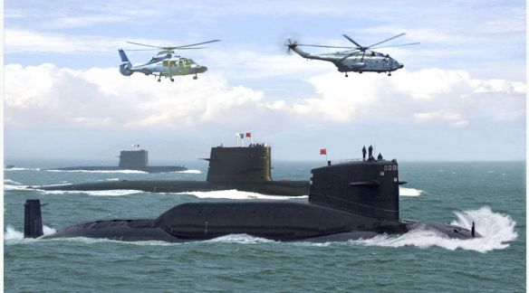 Chinese submarines in the deep Indian Ocean