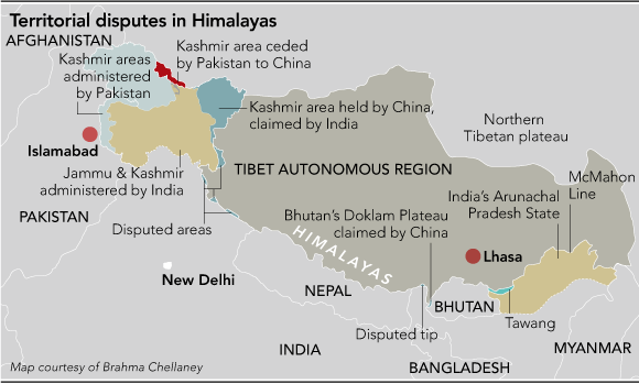 My map of Himalayan territorial disputes (NAR)