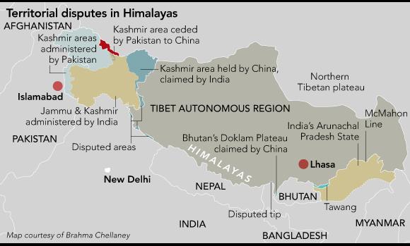 My map of Himalayan territorial disputes (NAR)