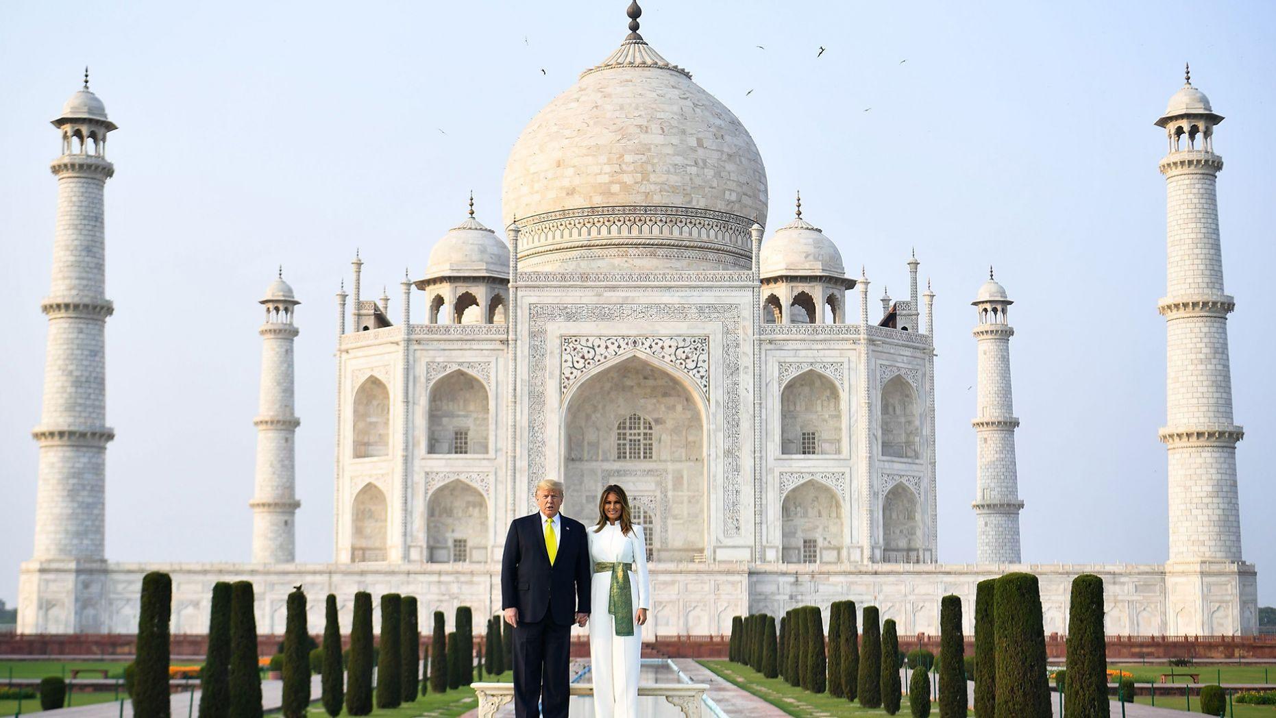 Trump Melania Taj